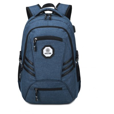Fashion PVC Waterproof  Backpack with Usb Charging Port Travel Bag