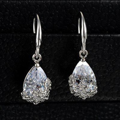 Silver Gold Colors Wedding Crystal Zircon Dangle Earring For Women's 18K Gold Designer Elegant Classic Flowers Jewelry Accessories For Girl