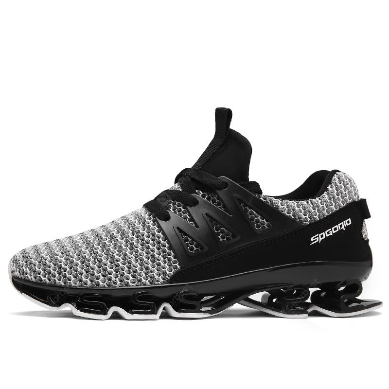 ZEACAVA Men Fashion Sneakers Spring Blade Sole Sport Running Shoes