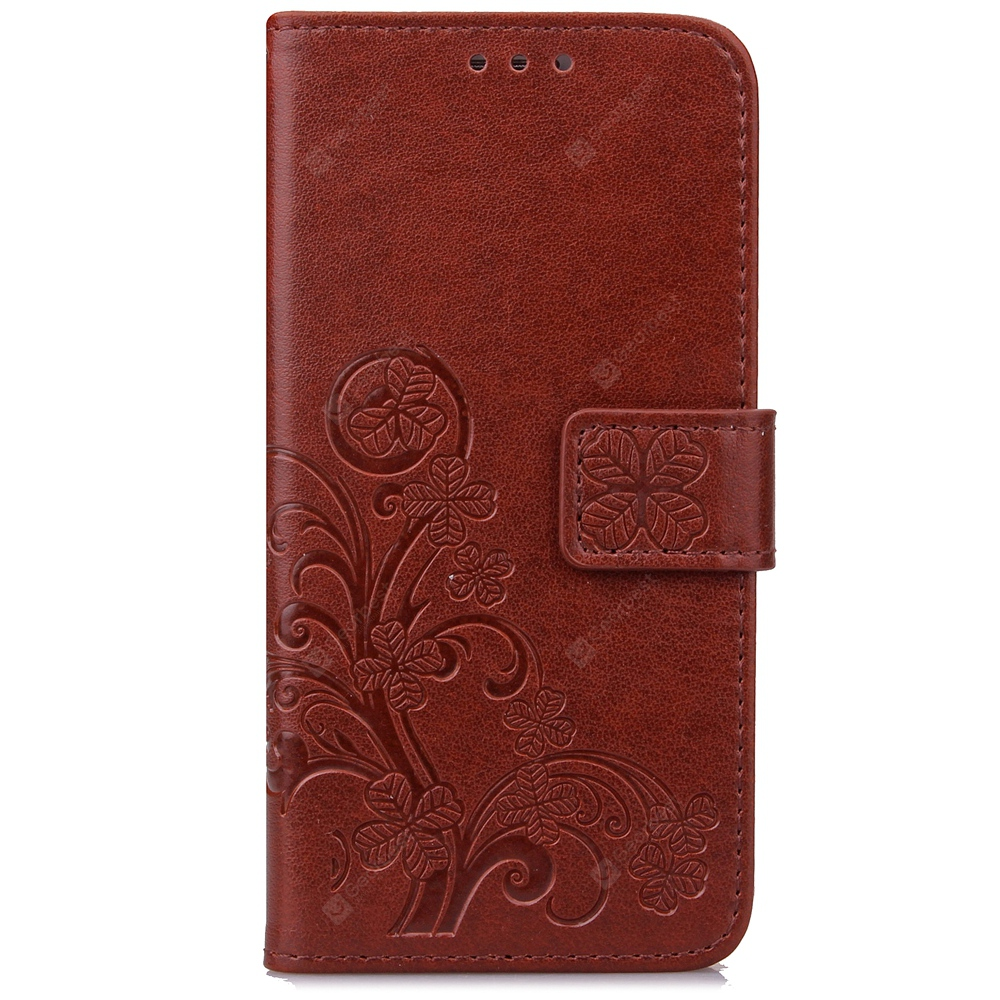 Yc Lucky Clover Holster Leaf Card Lanyard Pu Leather pour Samsung C9