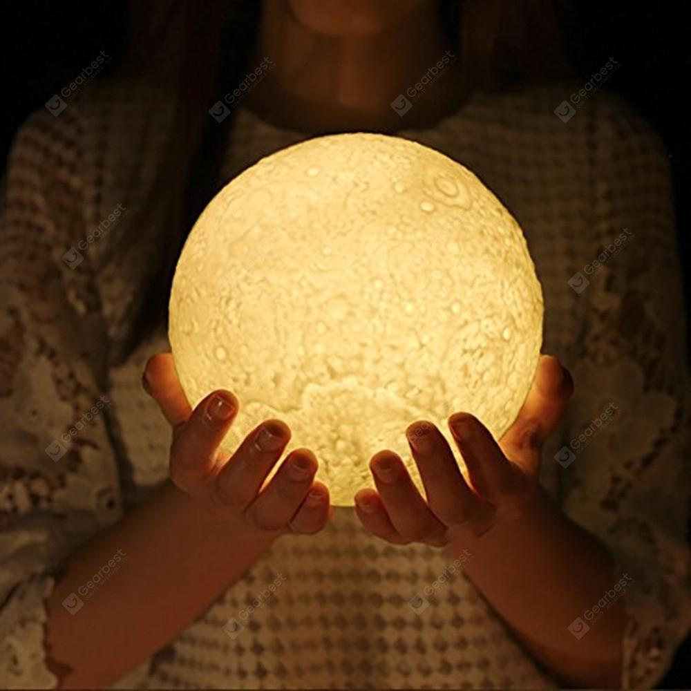 KWB Night Light LED 3D Printing Moon Lamp Home Decorative Baby Night ...