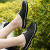 ZEACAVA Men Outdoor Hollow Out Breathable Slippers Peas Shoes - BLACK