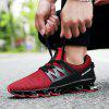 ZEACAVA Men Fashion Sneakers Spring Blade Sole Sport Running Shoes - RED