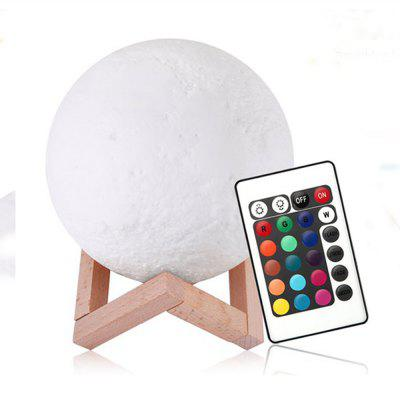 YouOKLight YK2302 3D Printed Remote Control 16 Colors Moon Style Night Light