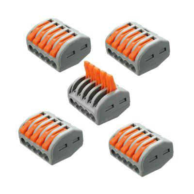 ZDM 2/3/5 Pins ET25 32A Spring Terminal Block Electric Cable Wire Connector 5PCS