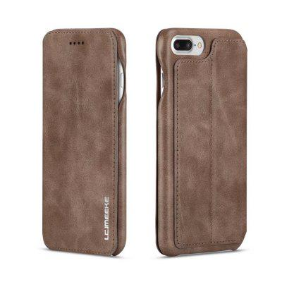 LC.IMEEKE Thin Lightweight Leather Stand Case for iPhone 7 Plus / 8 Plus roar korea noble leather stand view window case for iphone 7 4 7 inch orange