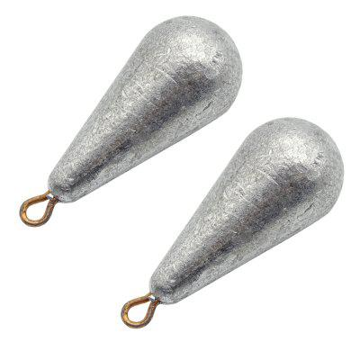 Water Droplet Shape Solid Fishing Special Regulus Lead 2pcs