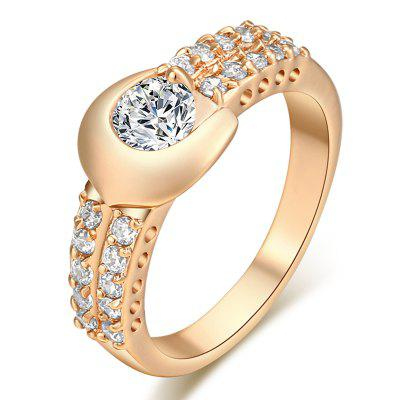 Fashion Micro-inlaid Zircon Ring J1166