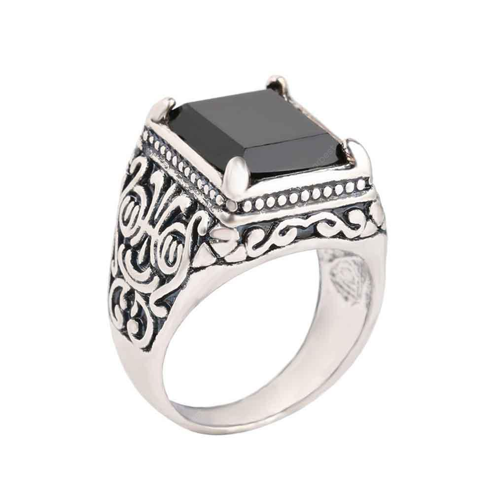 Fashion Personality Black Men's Resin Ring