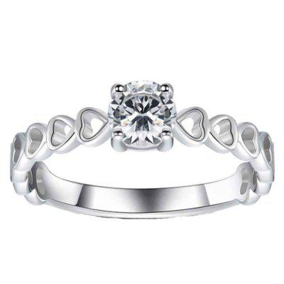 The New Style Is Simple Zircon Silver Ring