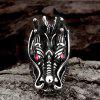 Vingtage Jewelry Dragon Head Rhinestone Ring for Men - GUNMETAL