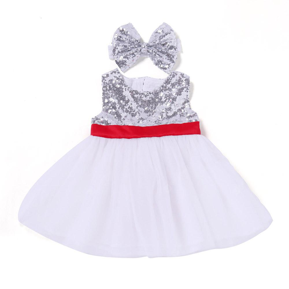 Yoyoxiu CX1123 Girl's Dress Sequins Decoration Sleeveless Wedding Party Princess