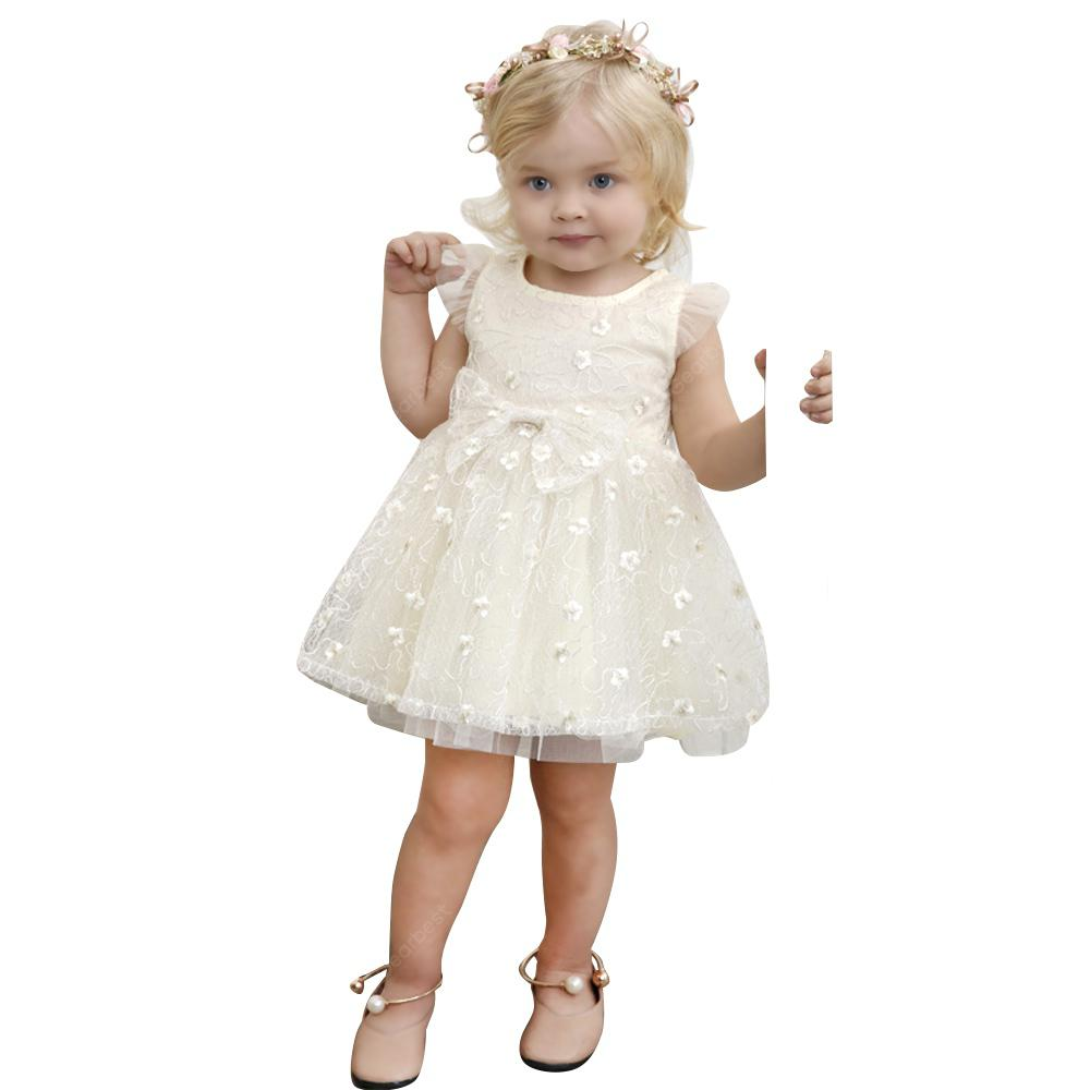 Yoyoxiu CX1204 - 2 Girl's Skirt Patchwork Round Neck Fashion Lace Dress