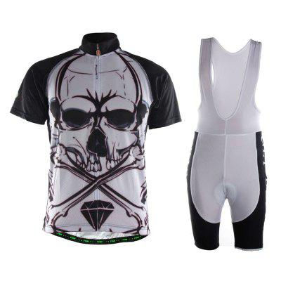 TVSSS Men Short Sleeve Summer Comfortable Fabric Skull pattern Bike Jersey Clothing Suit
