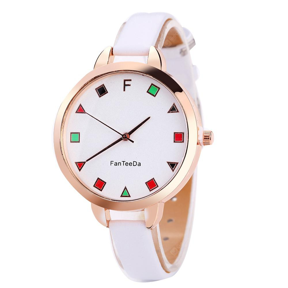 Colorful Squares Calibration Time Quartz Watch