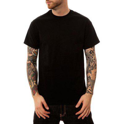 Men's Casual Cotton Round Neck Short Sleeves T-shirt