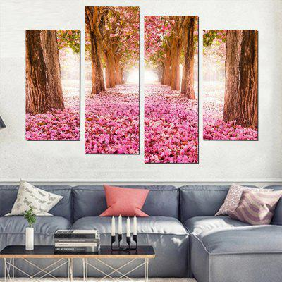 Modern Printed Landscape Canvas Art Painting for Living Room 4 Panel ...