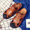 Men Casual Hiking Leather Sandals Slippers - LIGHT BROWN