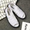 Men Casual Hiking Outdoor Sandals Leather Slippers - WHITE