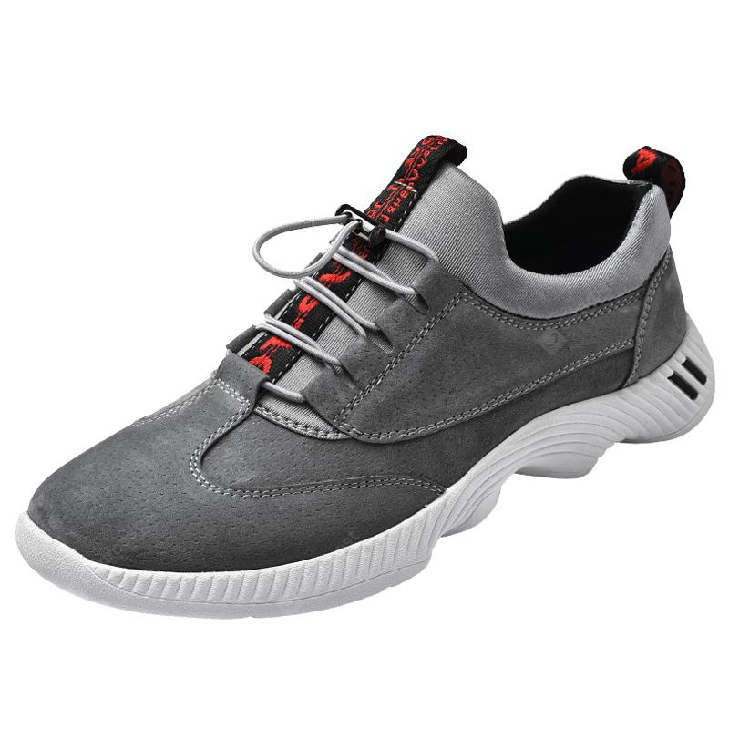 Men Outdoor Fashion Hiking Mesh Leather Shoes
