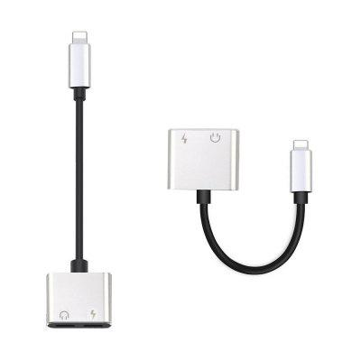 2 in1 Dual 8 Pin Adapter Lade Splitter Audio Kabel für iPhone X / 8/7 Plus
