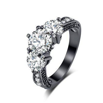 Fashion Simple and Exquisite Zircon Ring J1263