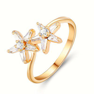 Fashion and Romantic Cherry Blossom Beautiful Zircon Ring J1303