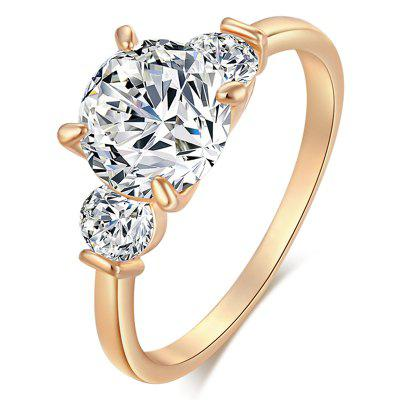 Fashion Simple and Delicate Zircon Ring J1512