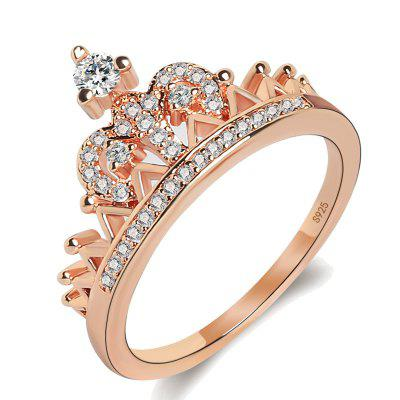 Europe and America Crown of The Queen Zircon Rose Gold Ring