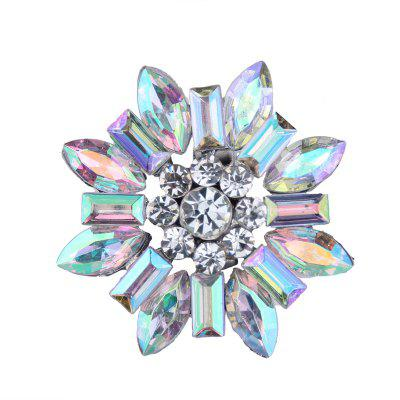 Europe and America New Arrival Colorful Zircon Flower Ring