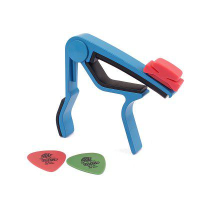 Blue Tuner Quick Change Clamp Key Clip for Acoustic Classic Guitar Picks Capo