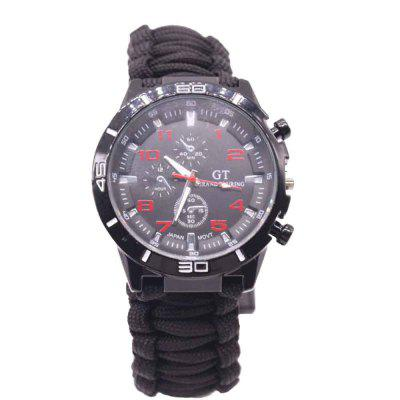 Outdoor Umbrella Hand Woven Strap Polyester Rope  Climbing Watch