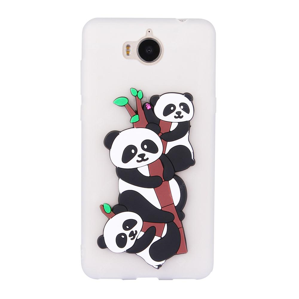 Custodia per Huawei Y6 2017 3D Panda Soft Phone Protection Shell