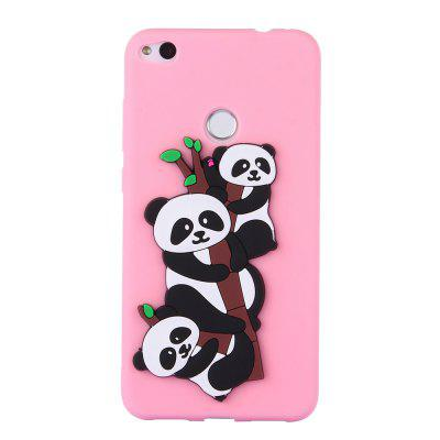 Case for  Huawei P8Lite 2017  3D Panda Soft Phone Protection Shell