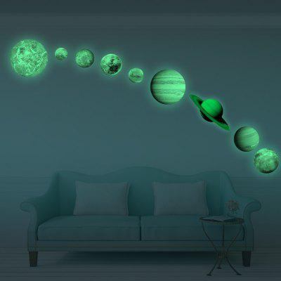 Glow In The Dark Planet Wall Stickers 9 Planets Solar System Wall Decals