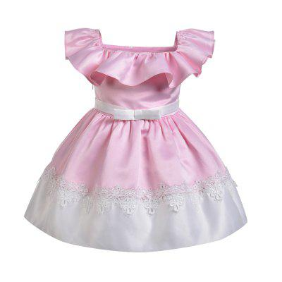 Yoyoxiu CX0111 Girls Fashion Solid Color Collar Dress