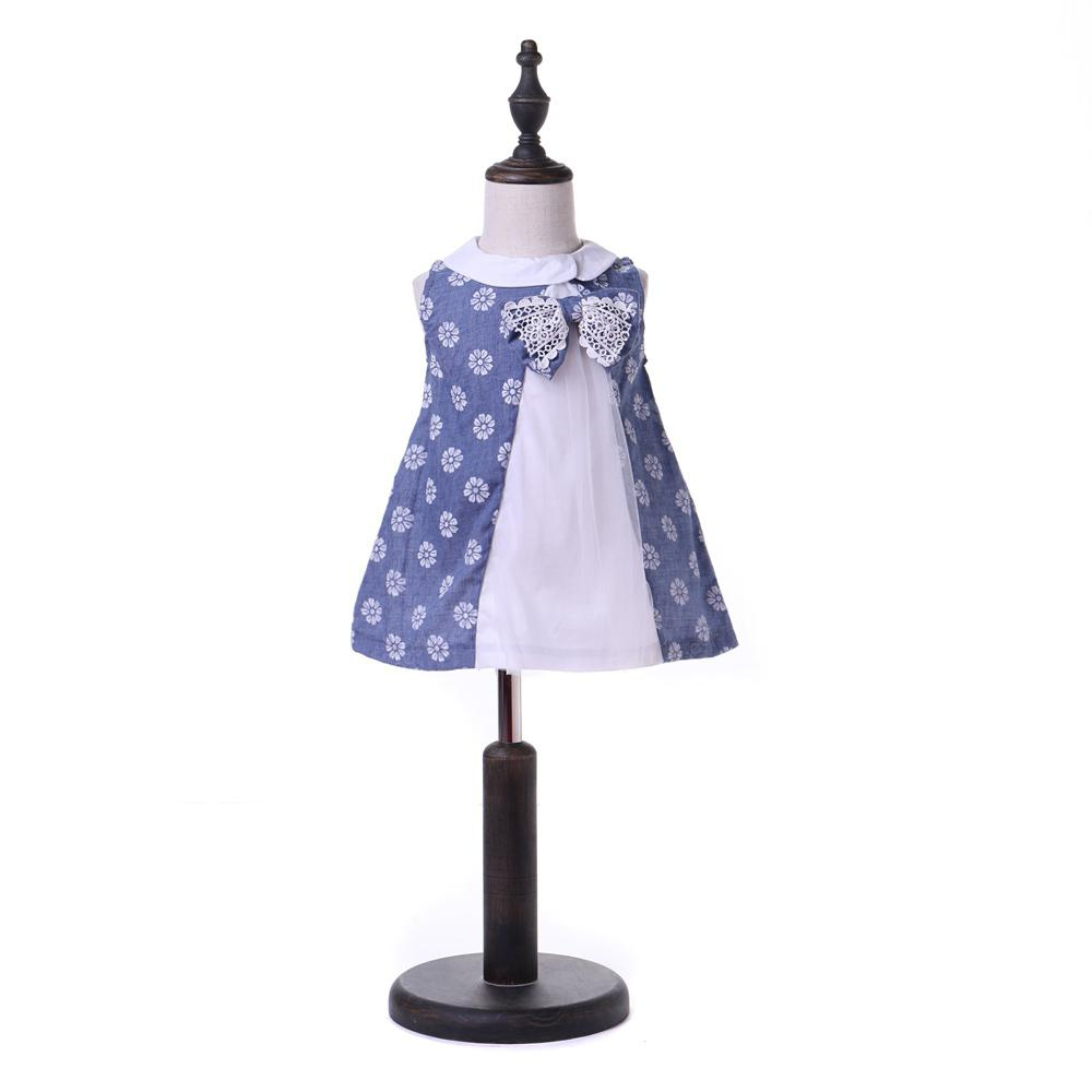Yoyoxiu CX1125 - 2 Girl Sleeveless Small Lapel Dress