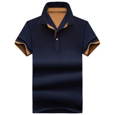 Summer Pure Color Casual Men's Short-Sleeved Polo Shirts