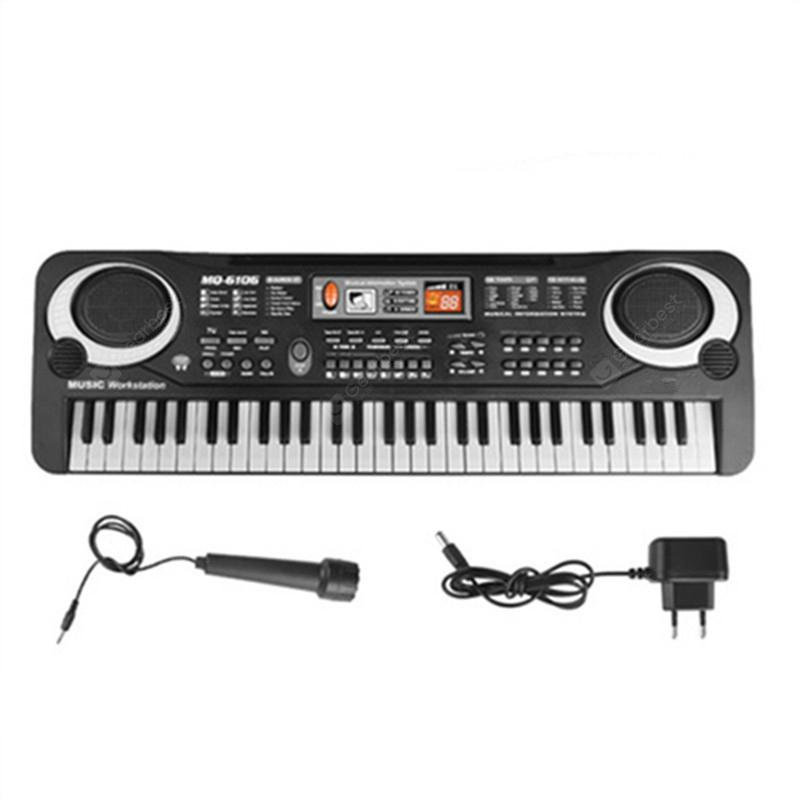 Multifunctional Mini Electronic Piano with Microphone 61 Keys