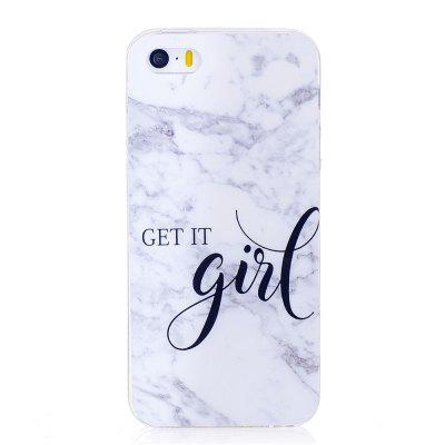 Grey White Mixed Color Characters Marble Soft TPU Case for iPhone 5/5S/SE