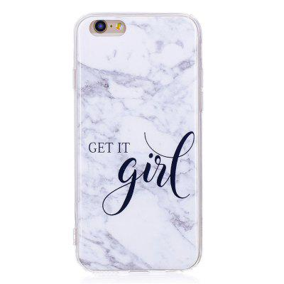 Grey White Mixed Color Characters Marble Soft TPU Case for iPhone 6/6S incoming call led flashing pc tpu hybrid case for iphone 6s 6 colorful feathers
