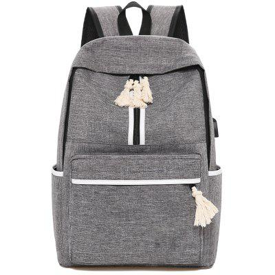 Canvas Campus Simple Men and Women Backpack