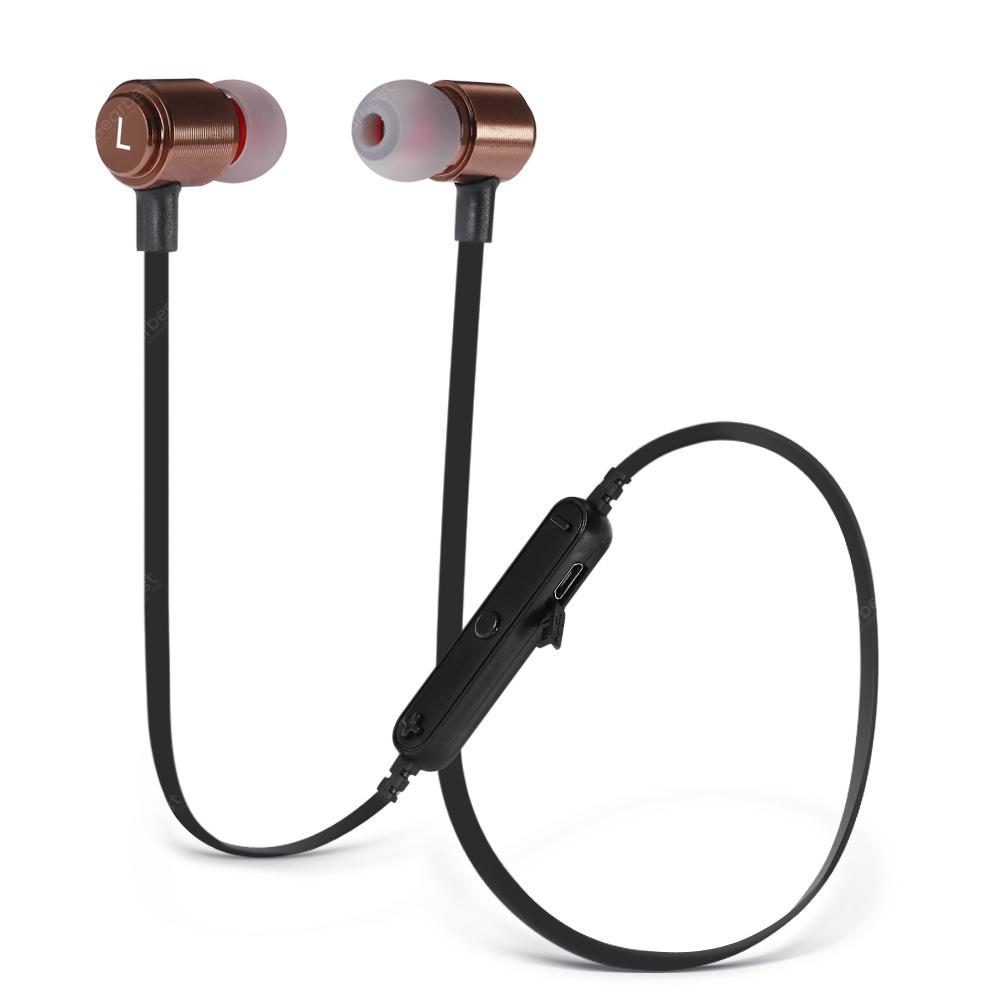 Metal Sports Bluetooth Headset   4.1 Bluetooth Version Appearance Fashion