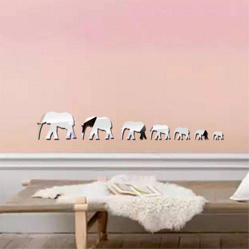 the walking elephant mirrored wall sticker - $10.61 free shipping