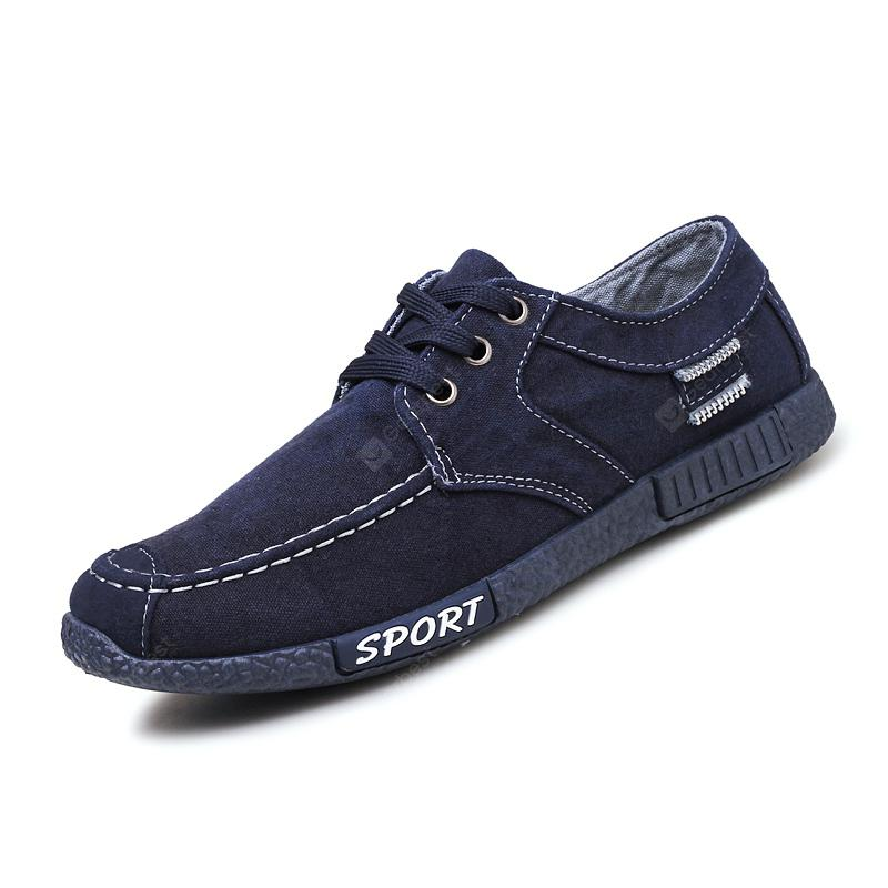60d32e589c6 Men Canvas Fashion Summer Lace-Up Leisure Hiking Casual Sport Sneakers -  DENIM DARK BLUE