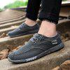 Men Canvas Fashion Summer Lace-Up Leisure Hiking Casual Sport Sneakers - CARBON GRAY