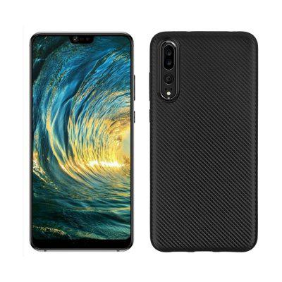 Case for Huawei P20 Pro No Fingerprints Back Cover Fiber Pattern Soft TPU