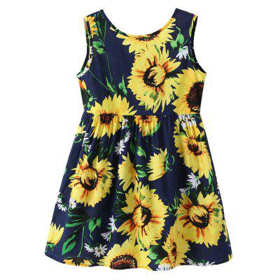 Kids  Girls Strap Sleevesless   Summer  Fashion Dress Clothes
