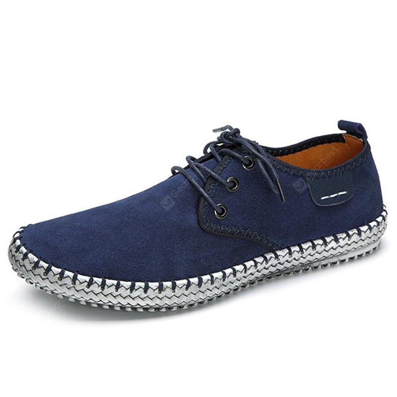 Large Size Men Suede Stitching Soft Sole Outdoor Sport Casual Shoes