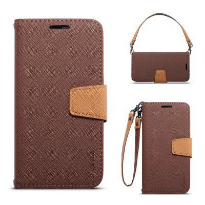 MUXMA Cover Case for iPhone 7 Plus / 8 Plus Twill Leather